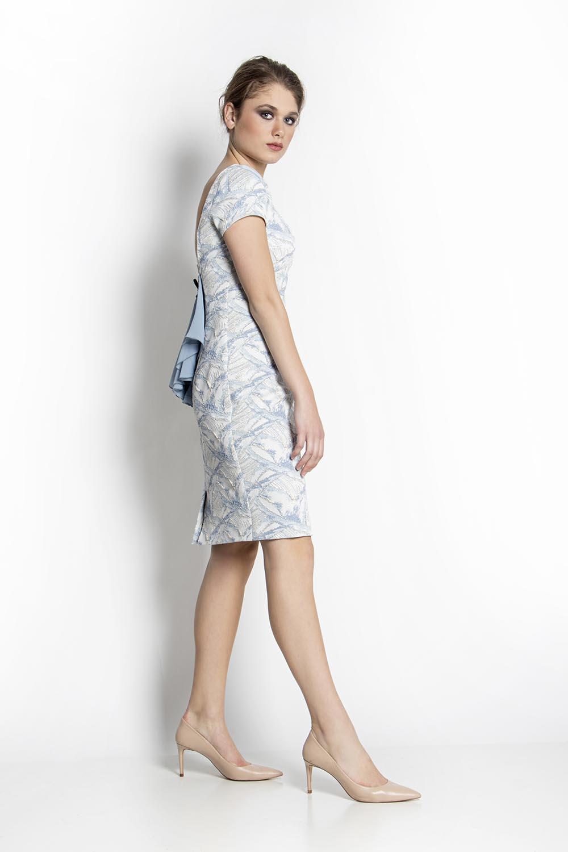 5e1553b11ad4 Φόρεμα μπροκάρ με την πλάτη έξω - Maxin Fashion
