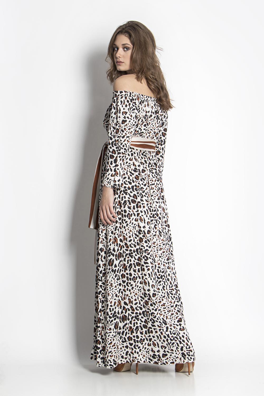 372e70f4a702 Φόρεμα λεοπάρ maxi - Maxin Fashion
