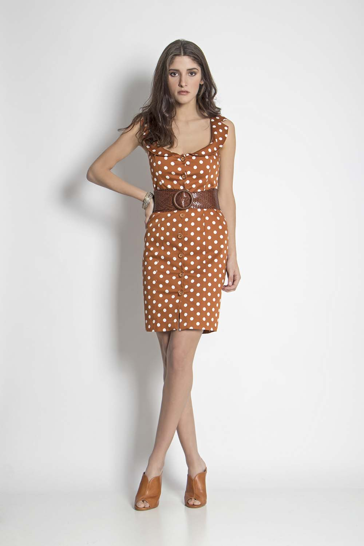 11372bb9bd7 Φόρεμα πουά αμάνικο - Maxin Fashion