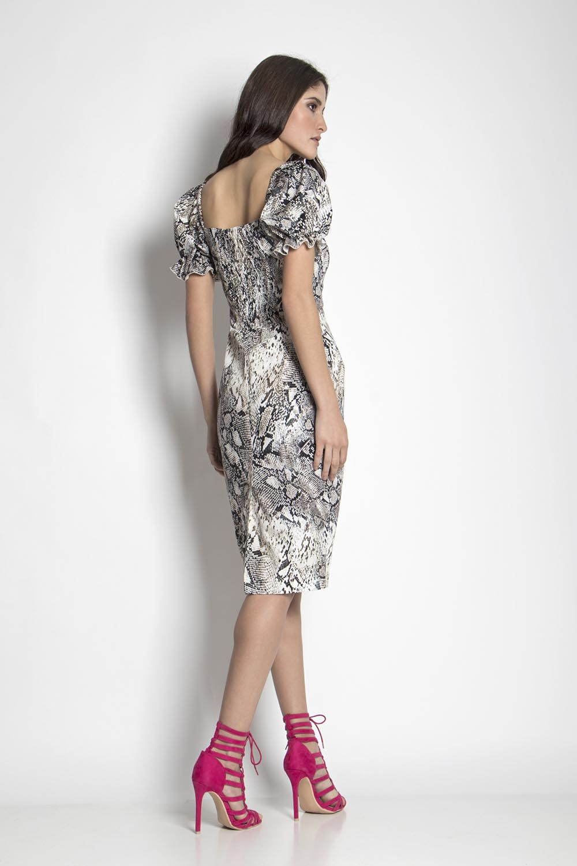 340ad08e2a5 Φόρεμα midi με animal print